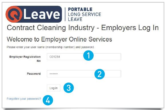 Contract cleaning employer log in