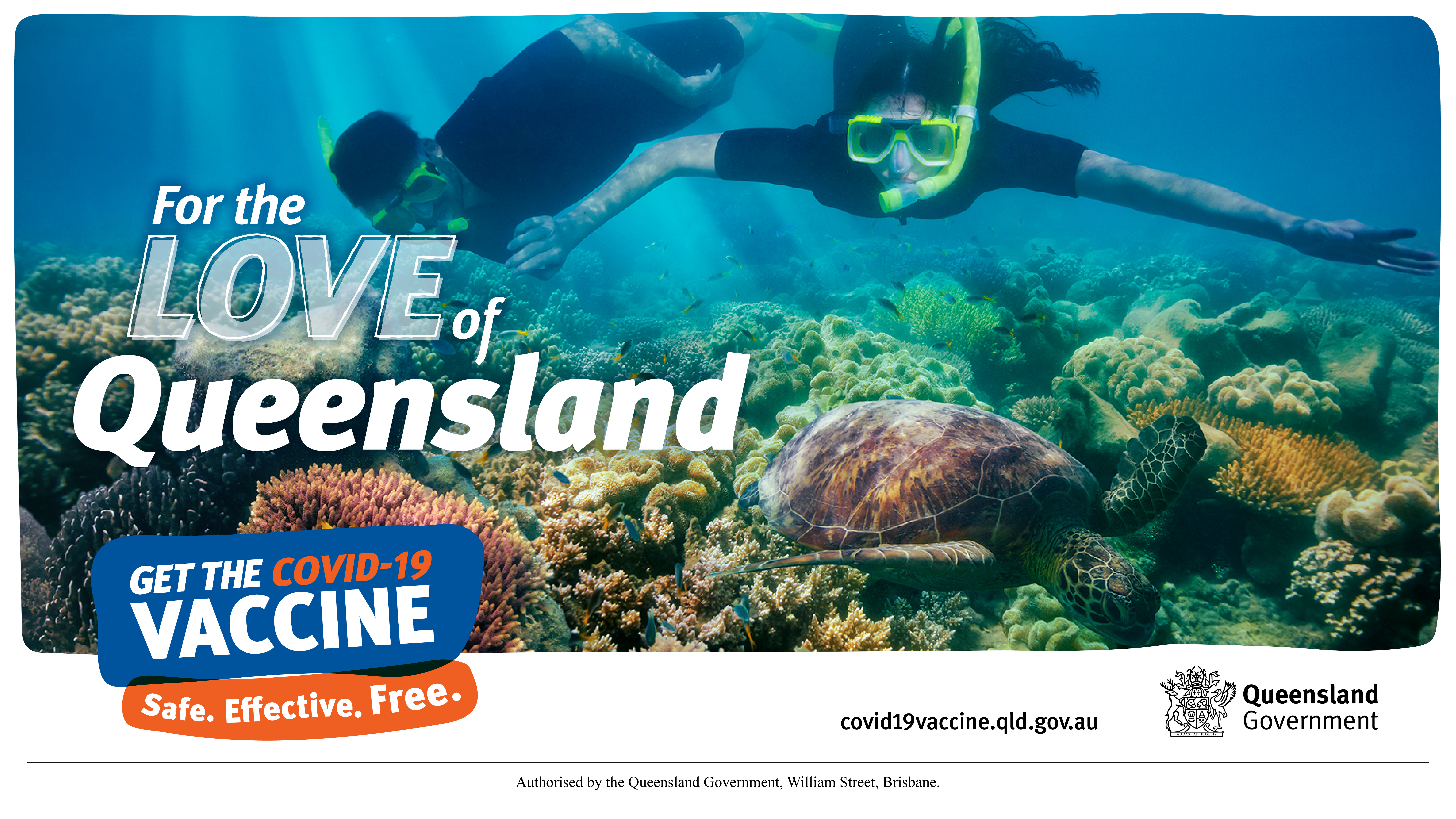 For the love of Queensland COVID vaccine campaign image