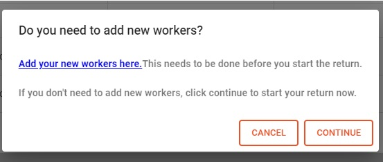 Add new workers pop up